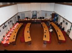 Interno aula consiliare Villa Mella 2